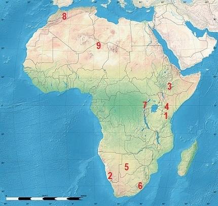 Cartina Muta Dell Africa Fisica.Quiz Sulla Geografia Fisica Dell Africa
