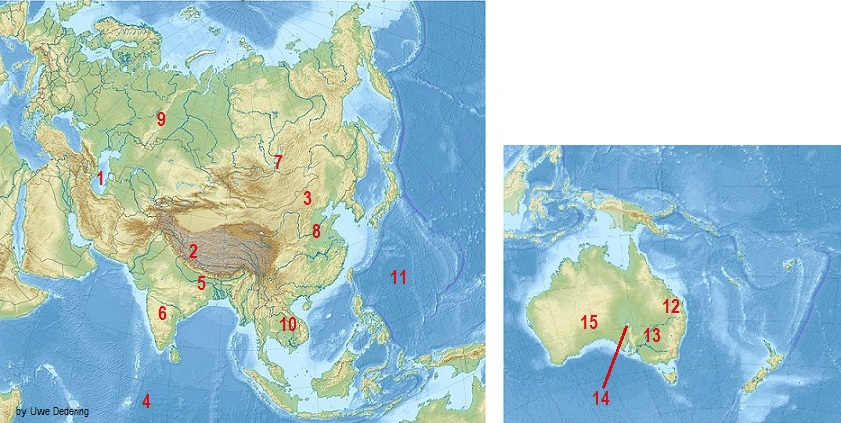 Cartina Asia Fisica.Quiz Sulla Geografia Fisica Di Asia E Oceania