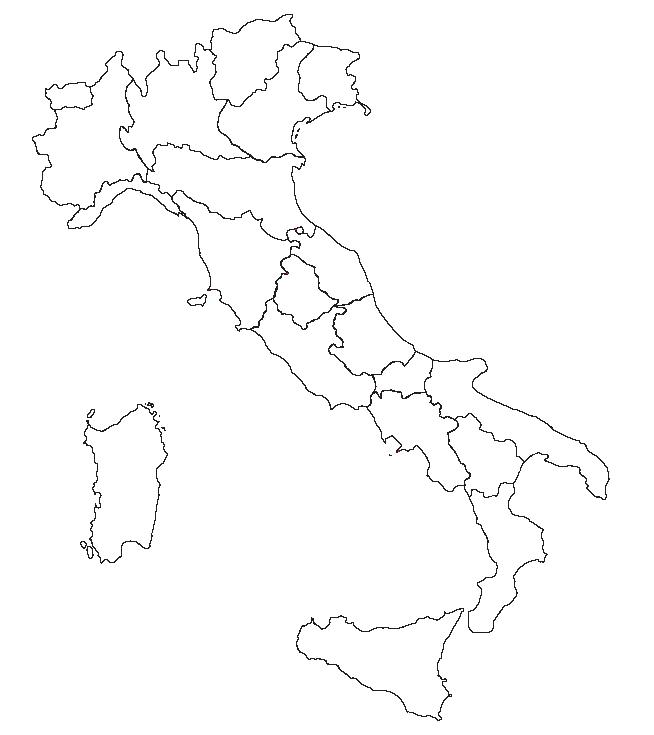 Cartina Muta Regioni Italia.Cartina Muta Regioni D Italia