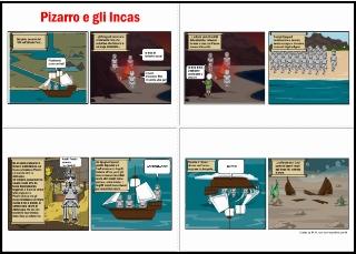 fumetto Pizarro e Incas