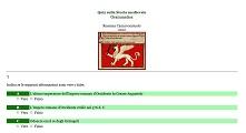 Quiz storia Medioevo