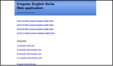 verbi irregolari inglesi web application
